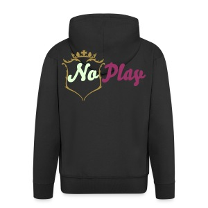 mens No play by FR - Men's Premium Hooded Jacket
