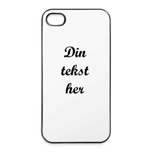 Cover til iPhone 4 - egen tekst - iPhone 4/4s hard case