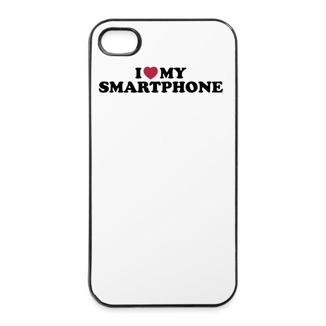 Cover til iPhone 4 - I love my smartphone