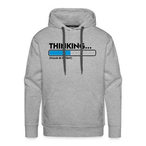 Denk-Pullover - Männer Premium Hoodie