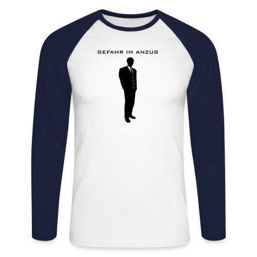 Gefahr im Anzug (Gentleman-Version) - Männer Baseballshirt langarm