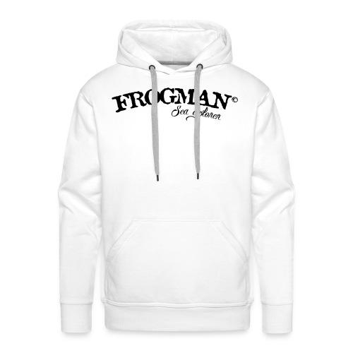 FROGMAN CERTIFIED DIVER PLONGEE BOUTEILLE - Sweat-shirt à capuche Premium pour hommes