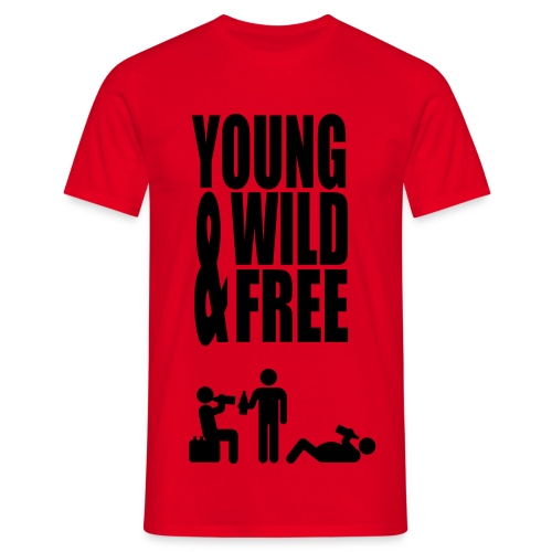 Young, Wild & Free. - Mannen T-shirt