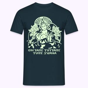 White Tara Goddess Glow-in-the-Dark - Mannen T-shirt