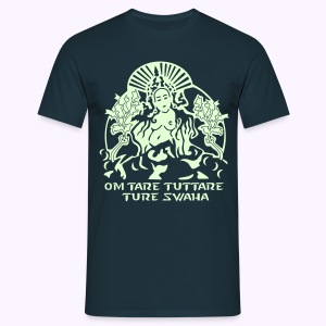 White Tara Goddess Glow-in-the-Dark - Mannen T-shirt