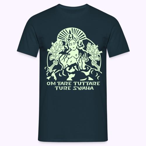White Tara Goddess Glow-in-the-Dark - Herre-T-shirt