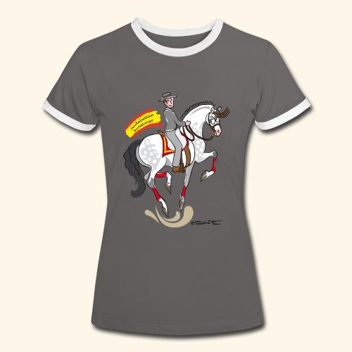 Andalusian horselover grey - Maglietta Contrast da donna