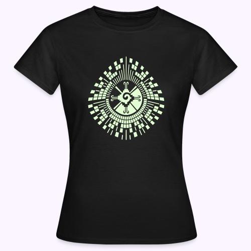 Hunab-Ku-DNA-Tree  Glow-in-the-Dark - Dame-T-shirt