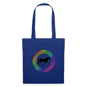 Celtic Rainbow Pony (black) Tote Bag - Tote Bag