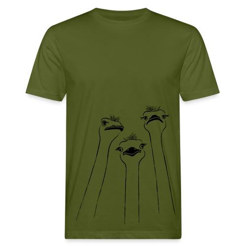 tier t-shirt vogel strauss ostrich langhals hals lang schnabel emu - Männer Bio-T-Shirt