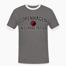 Copenhagen Intepretation (BLACK LETTERS) T-Shirts