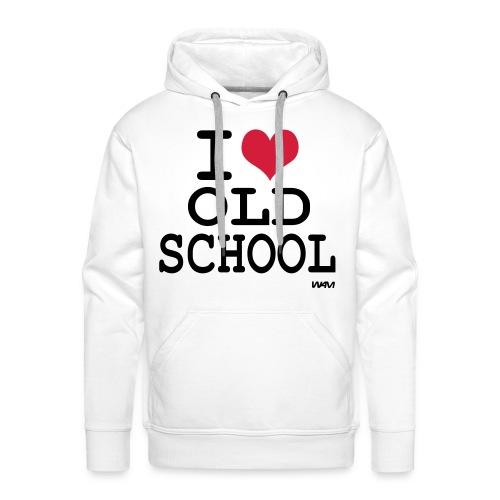OLD SCHOOL - Felpa con cappuccio premium da uomo