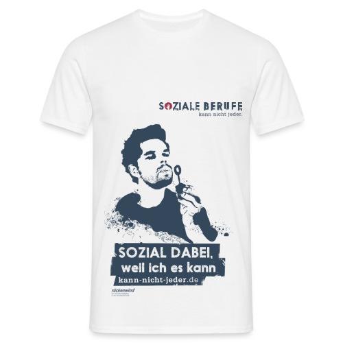 SOZIAL DABEI, weil ich es kann (Slogan dunkel) - Männer T-Shirt
