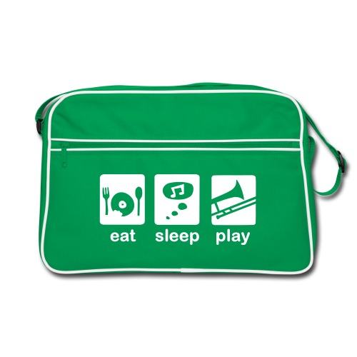 eat-sleep-play Posaunentasche - Retro Tasche