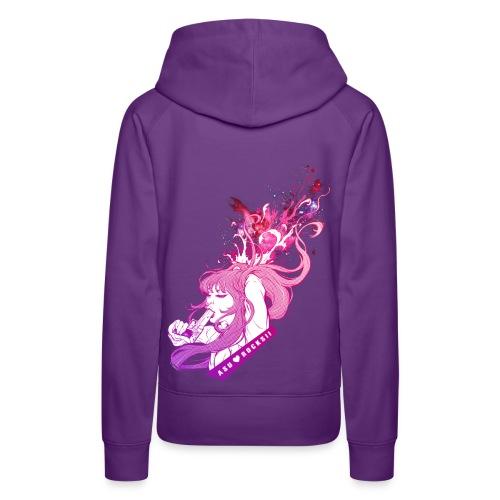 BANG! girl hoodie purple - Frauen Premium Hoodie