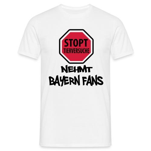 Stoppt Tierversuche - Männer T-Shirt