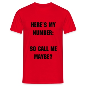 My Number Shirt - Men's T-Shirt