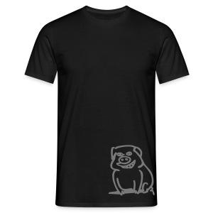 Trüffelschwein unten / Savoy Truffle hinten, Farbe wählbar - Männer T-Shirt