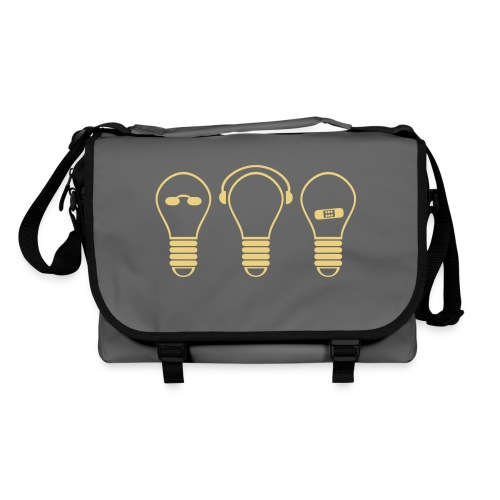 three electric light bulb - Umhängetasche