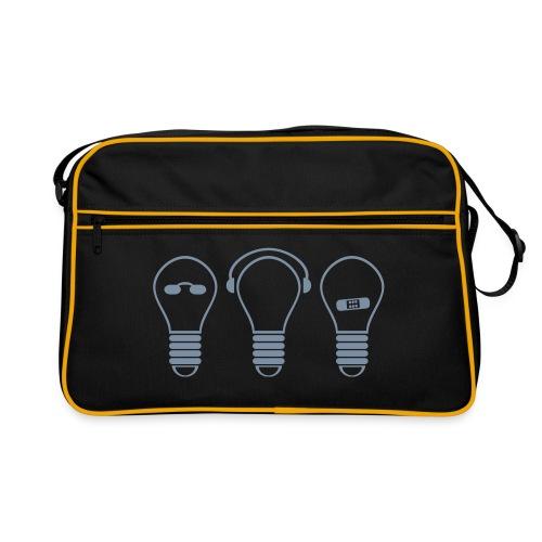 three electric light bulb - Retro Tasche