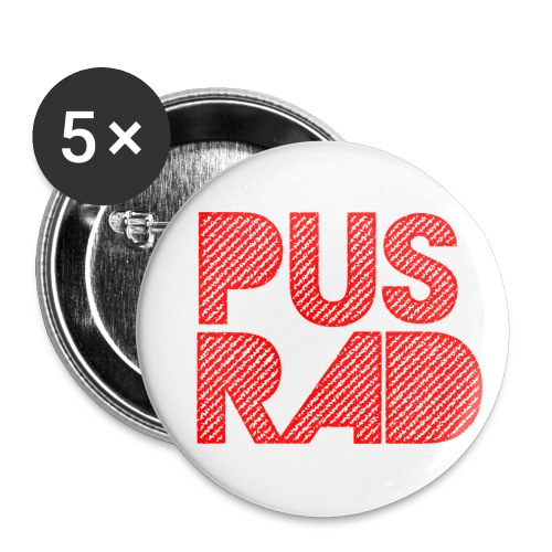 Pusrad-Akta dig - Buttons small 1''/25 mm (5-pack)
