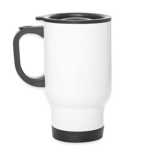 White Flask Caution: Contents May Be Cold - Travel Mug