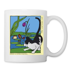 The curious cat - Mug