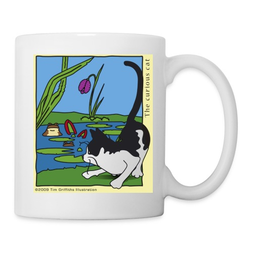 The curious cat - Mug