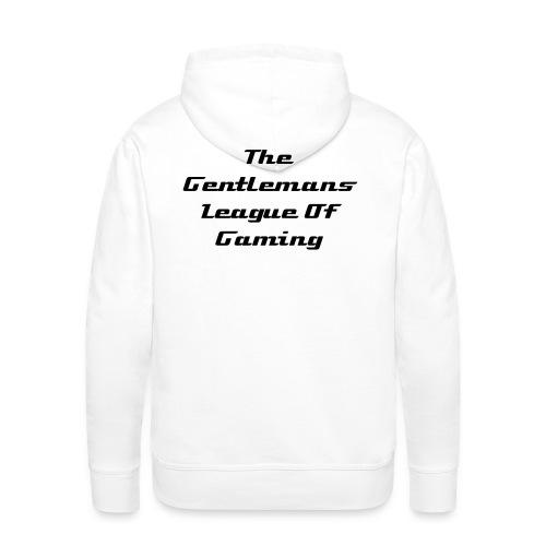 Hoodie with black logo and writing - Men's Premium Hoodie