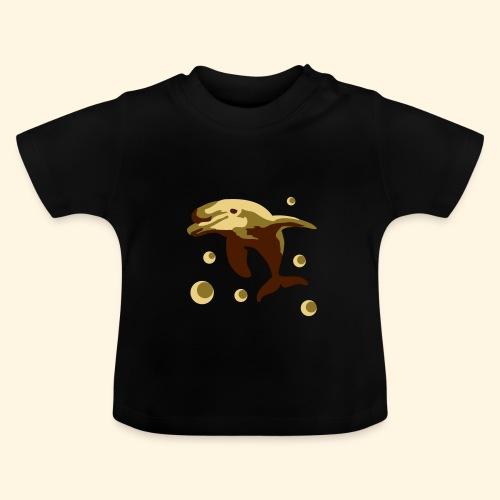 Baby T-Shirt - Delphin im Wasser - Baby T-Shirt
