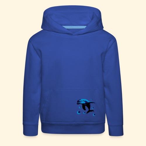 Kinder Kapuzenshirt - Delphin im Wasser - Kinder Premium Hoodie