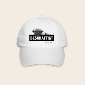 Basecap Mops at work - Baseballkappe