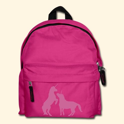 Kinder Rucksack - Einhörner rosa glitzer - Kinder Rucksack