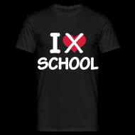 T-shirts ~ Herre-T-shirt ~ Jeg hader skole!