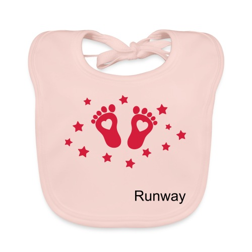Baby pink Runway bib for girls and boys - Baby Organic Bib