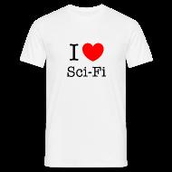T-paidat ~ Miesten t-paita ~ Miesten (I Love Sci-Fi) T-paita