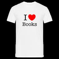T-paidat ~ Miesten t-paita ~ Miesten (I Love Books) T-paita