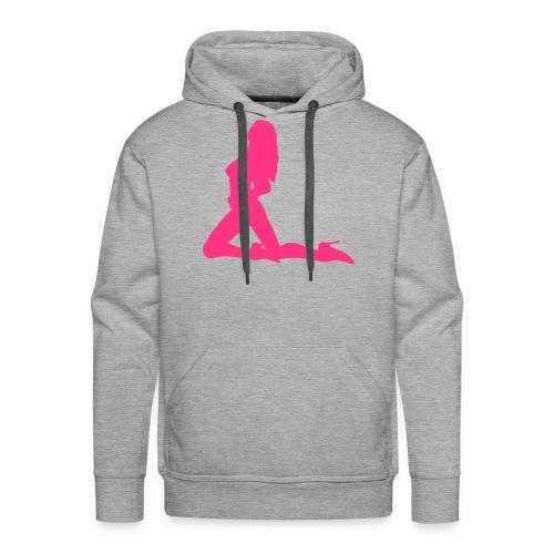 sweater met capuochon sexy girl (mannen) - Mannen Premium hoodie