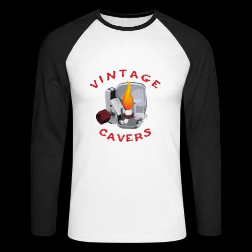 Vintage_caver - Maglia da baseball a manica lunga da uomo