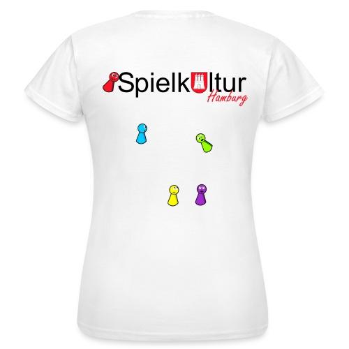Frauen T-Shirt mit Logo und Pöppeln - Frauen T-Shirt