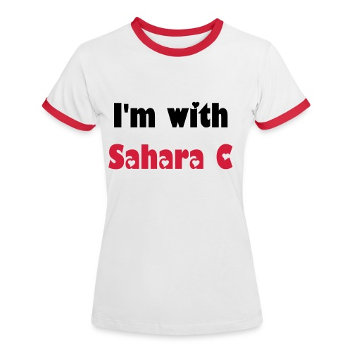I'm with Sahara C - Women's Ringer T-Shirt