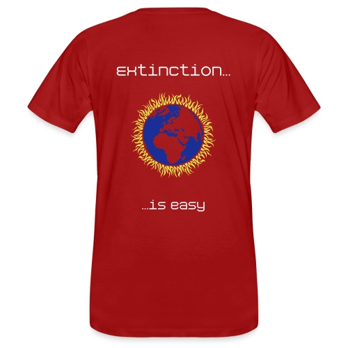 Red T-shirt extinction is easy - Men's Organic T-Shirt