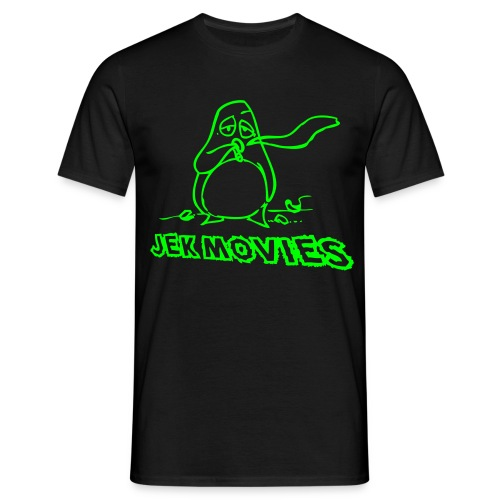 Pinguin JekMovies Neongrün - Männer T-Shirt