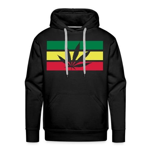 Cannabis Hoodie. (Black) - Herre Premium hættetrøje