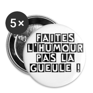 Pin's rond -  56mn  - Badge grand 56 mm