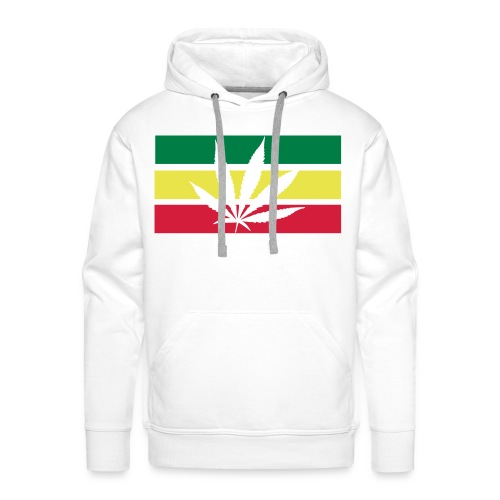 Cannabis Hoodie. (White) - Herre Premium hættetrøje
