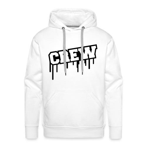 Crew Hoodie. (White) - Herre Premium hættetrøje