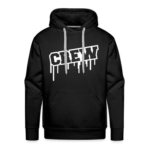 Crew Hoodie. (Black) - Herre Premium hættetrøje