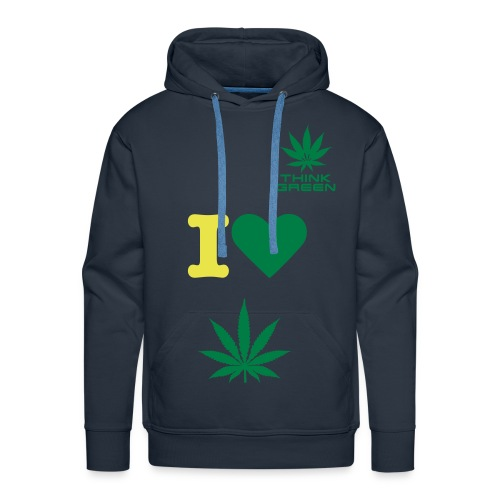 I Think Green - Mannen Premium hoodie