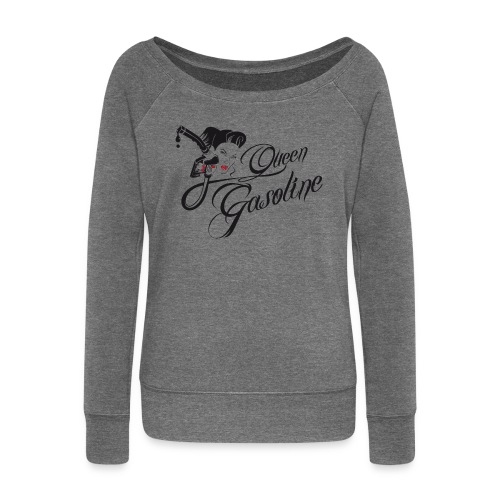 Queen Gasoline Gas Up Girl Shoulderfree Jersey - Frauen Pullover mit U-Boot-Ausschnitt von Bella